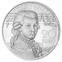 Реверс монеты «Моцарт»